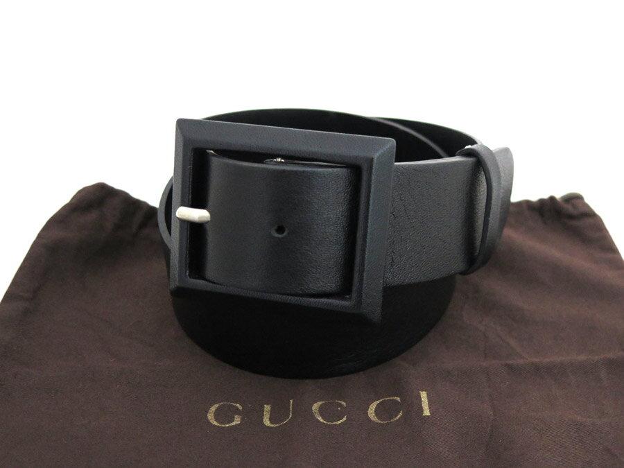 グッチ GUCCI ベルト サイズS ファッションベルト ブラック カーフレザー レディース【中古】【定番人気】- e34506
