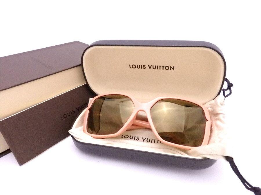ルイヴィトン Louis Vuitton サングラス フローラル カレ ピンクベージュ プラスチック ファッションサングラス ロゴサングラス レディース Z0364E 【中古】【おすすめ】 - e34836