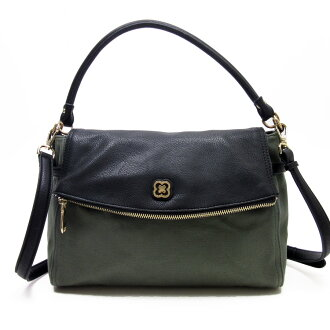 Take Ante prima ballerina mist ANTEPRIMA MISTO slant; shoulder bag black x khaki x gold leather x canvas Lady's - h16910