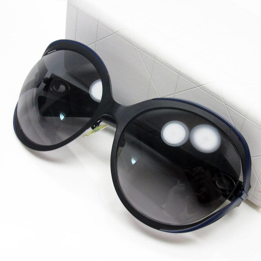 クリスチャンディオール Christian Dior サングラス 61□19 130 レンズ:グレーグラデーション フレーム:ブラックxネイビー プラスチック レディース 【中古】【定番人気】 - h16988