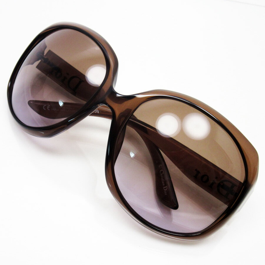 クリスチャンディオール Christian Dior サングラス 62□20 125 フレーム:クリアブラウンxゴールド レンズ:ブラウン プラスティック レディース 【中古】【定番人気】 - h17152