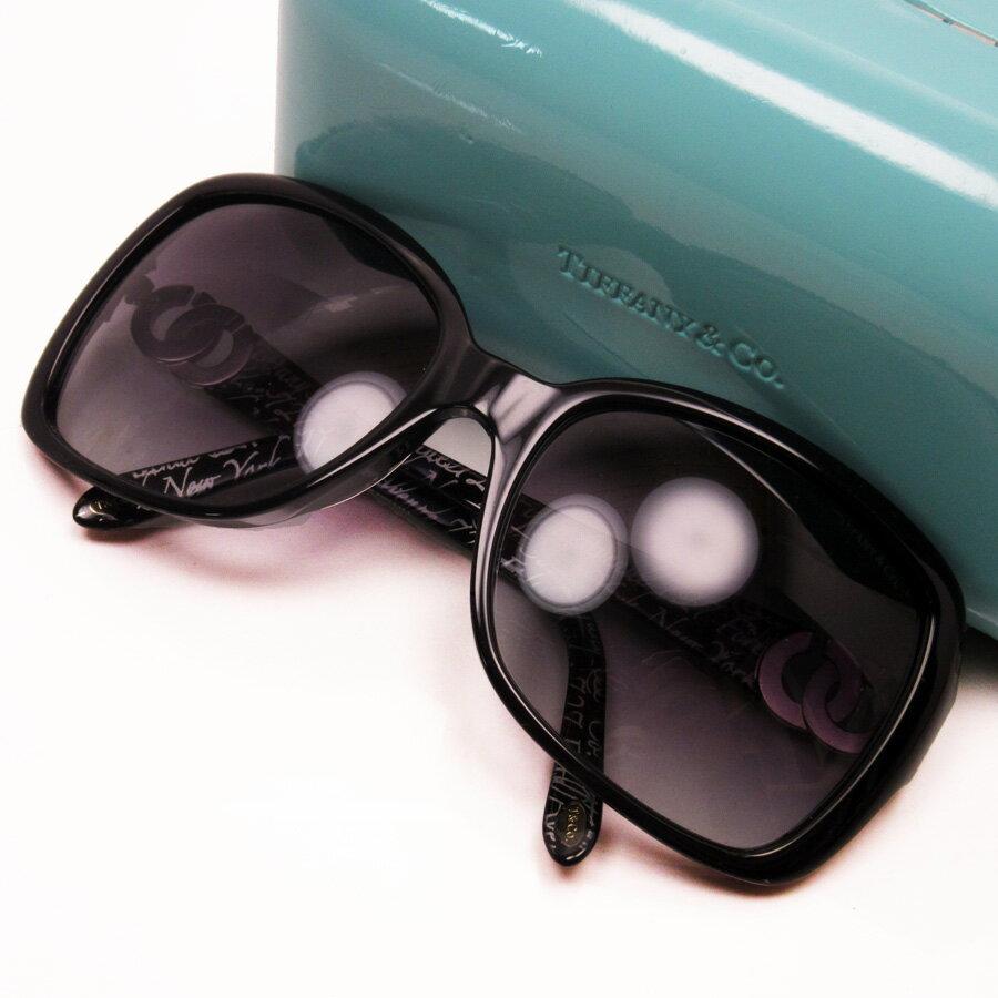 ティファニー Tiffany&Co. サングラス 58□18 130 レンズ:ブラック フレーム:ブラックxシルバー プラスチック レディース 【中古】【定番人気】 - h17186