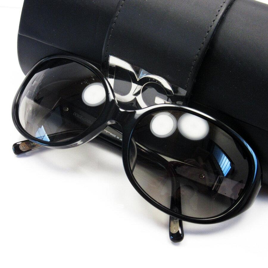 ドルチェ&ガッバーナ DOLCE&GABBANA サングラス 59□18 135 フレーム:ブラック レンズ:ブラック プラスチック レディース 【中古】【定番人気】 - h17350