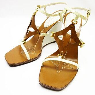0d271d4454bc BrandValue  Louis Vuitton Louis Vuitton sandals (37) monogram flower brown  x whitewood x patent leather x calf Lady s - h18004