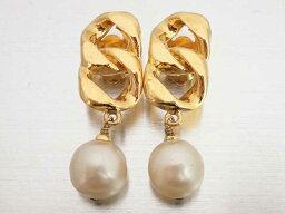 香奈爾CHANEL珍珠耳環黄金金屬材料x假貨珍珠女士[中古][推薦]-e35070