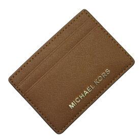 マイケルコース MICHAEL KORS パスケース カードケース ブラウンxゴールド レザー 【中古】【定番人気】 - g0472
