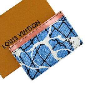 ルイヴィトン Louis Vuitton カードケース 定期入れ パスケース エピ ポルトカルトサーンプル ブルーxピンク エピレザー レディース 【中古】【おすすめ】 - x2851