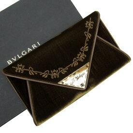 ブルガリ BVLGARI クラッチバッグ ブラウンxゴールド ベロアx金属素材 レディース 【中古】【定番人気】 - x2861