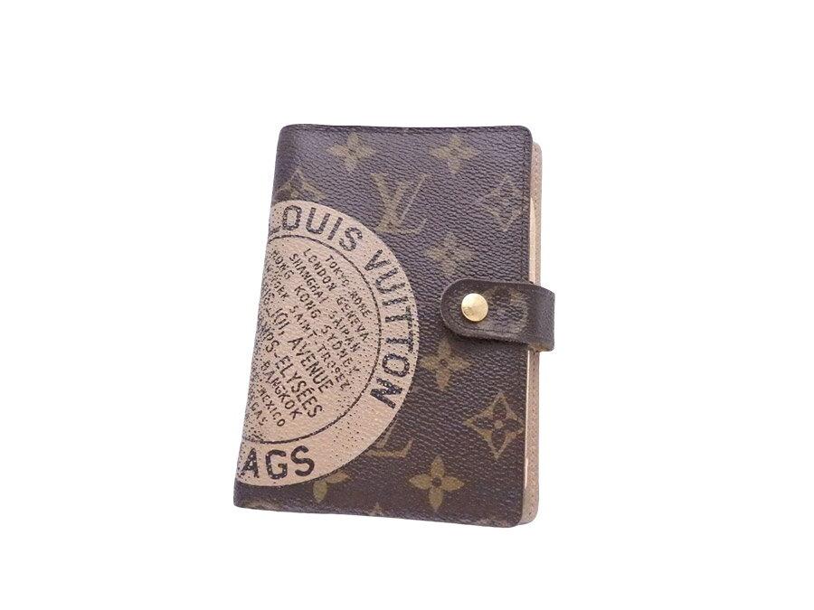 ルイヴィトン Louis Vuitton 手帳カバー モノグラム TRUNKS&BAGS アジェンダPM ブラウン モノグラムキャンバス 【中古】【定番人気】 - e36732