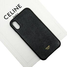 セリーヌ CELINE iPhone X/XSケース ブラック レザー レディース 値下げ商品【中古】【おすすめ】 - h23592b