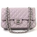 fcc158ea2b37 Chanel chain shoulder bag matelasse double flap lavender leather x silver  metal fittings CHANEL Lady's premium special feature -96,311