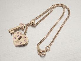 4be49e0f58 シャネル CHANEL ブレスレット ココマーク ハートモチーフ ゴールドxピンク 金属素材xラインストーン チェーン