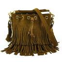 1d08fd399a Saint-Laurent handbag shoulder bag Emanuel pail bag brown suede x gold  metal fittings SAINT LAURENT Lady's free shipping [used] [basic popularity]  -96,638
