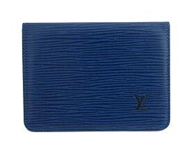 ルイヴィトン Louis Vuitton パスケース エピ ポルト 2カルト ヴェルティカル ブルー エピレザー 定期入れ カードケース レディース メンズ M6320G 【中古】【おすすめ】 - e40605