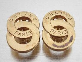 セリーヌ CELINE イヤリング ロゴ ゴールド 金属素材 ロゴイヤリング ゴールドイヤリング レディース 【中古】【訳あり】 - e46237a