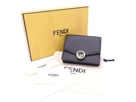 【美品】フェンディ FENDI チェーンウォレット Fイズ ブラック レザーxゴールド金具 送料無料 レディース 【中古】 - e46665e