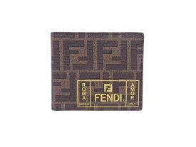 フェンディ FENDI 二つ折り財布 ズッカ ブラウンxイエロー PVCxレザー レディース メンズ 送料無料【中古】【おすすめ】 - e45880f