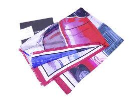 シャネル CHANEL ショール ロゴ マルチカラー 100% シルク スカーフ 送料無料【中古】【おすすめ】 - e46157d