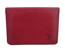 ルイヴィトン Louis Vuitton パスケース エピ ポルト2カルトヴェルティカル レッド エピレザー カードケース レディース メンズ 送料無料【中古】【おすすめ】 - e47014a