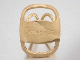 フェラガモ Salvatore Ferragamo スカーフリング ヴァラ ゴールド 金属素材 送料無料 レディース 【中古】【おすすめ】 - e47039a