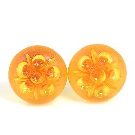 ジバンシィ イヤリング オレンジ プラスティックx金属素材 GIVENCHY レディース 【中古】【定番人気】 - y14478a