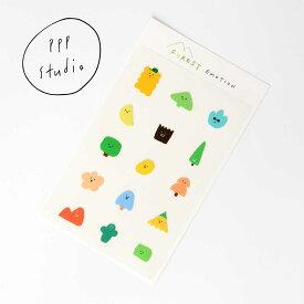 【合計1,100円以上で送料無料】pppstudio forest emotion sticker ステッカー キャラクター レディース 韓国 韓国ブランド 韓国雑貨 シール 文具 ステーショナリー かわいい おしゃれ 日本 販売