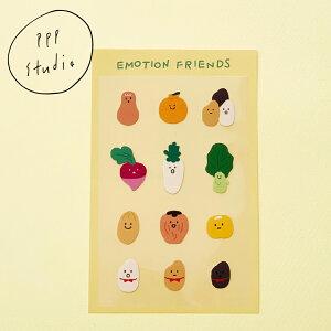 【合計1,100円以上で送料無料】pppstudio emotion friends sticker ステッカー キャラクター レディース 韓国 韓国ブランド 韓国雑貨 シール 文具 ステーショナリー かわいい おしゃれ 日本 販売