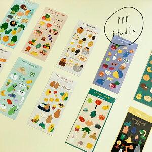 【NEW!】【合計1,100円以上で送料無料】pppstudio friends seal sticker ステッカー キャラクター レディース 韓国 韓国ブランド 韓国雑貨 シール 文具 ステーショナリー かわいい おしゃれ 日本 販売