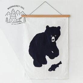 【NEW!】WARMGREYTAIL BLACK BEAR FABRIC POSTER SMALL ファブリック ポスター タペストリー 韓国 ブランド 雑貨 インテリア 壁掛け かわいい おしゃれ くま イラスト 日本 販売 ギフト プレゼント【送料無料】