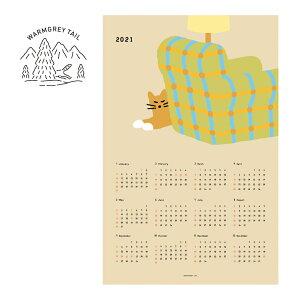 【NEW!】【合計1,100円以上で送料無料】WARMGREYTAIL 2021 Posetr Calendar 壁掛けカレンダー カレンダー 韓国 ブランド アート シンプル イラスト オフィス 雑貨 かわいい おしゃれ 日本 販売