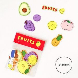【NEW!】【合計1,100円以上で送料無料】3MONTHS Fruit Sticker Pack ステッカー キャラクター フルーツ 韓国ブランド 韓国雑貨 ステーショナリー シール かわいい おしゃれ 日本 販売