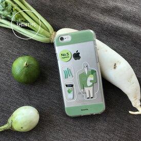 3MONTHS No.5 iPhone Case 八百屋さん クリアケース iPhone 11 11pro XS X iphoneケース 耐衝撃 アイフォンケース キャラクター アイフォン ケース レディース 韓国 韓国ブランド 韓国雑貨 かわいい おしゃれ 日本 販売 ギフト プレゼント