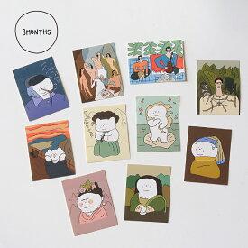 【合計1,100円以上で送料無料】3MONTHS Gallery Sticker Pack ステッカー キャラクター ねこ 猫 ネコ レディース 韓国ブランド 韓国雑貨 ステーショナリー シール かわいい おしゃれ 日本 販売