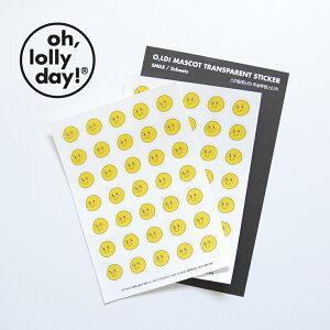 【合計1,100円以上で送料無料】O,LD! Mascot emotion sticker oh lolly day ブサかわくん ステッカー キャラクター シール 透明 レディース 韓国 韓国ブランド オーロリーデイ old かわいい おしゃれ oh lolly