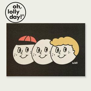 【合計1,100円以上で送料無料】 O,LD! POST CARD 3brothers oh lolly day モンナニ ポストカード キャラクター レディース 韓国 ブランド 雑貨 オーロリーデイ かわいい おしゃれ oh lolly day オー ロリー デ