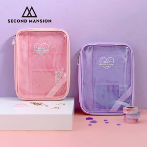 SECOND MANSION MOONLIGHT TWINKLE BOOK POUCH クリアポーチ ポーチ ブックポーチ コスメ 文具 レディース 韓国 ブランド 雑貨 かわいい セカンドマンション 日本 販売 ギフト プレゼント