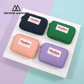 SECOND MANSION etudes CARD WALLT カードケース ポーチ レディース カード財布 カードウォレット ミニ財布 韓国 ブランド 雑貨 かわいい シンプル セカンドマンション 日本 販売 ギフト プレゼント