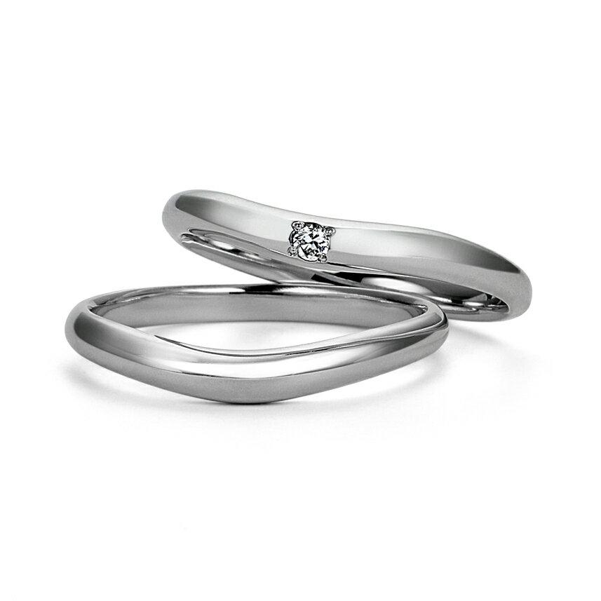 結婚指輪 マリッジリング 2本セット ケース付き プラチナ950 平均幅2.5mm ダイヤモンド1ピース(DEFカラーup,VS up) 約0.02ct(レディース用) 指輪への刻印無料 ブルーサファイア(内側)を無料でお入れ致します。納期通常約2週間〜4週間