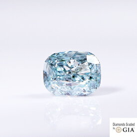 天然 ファンシーインテンスグリーンブルーダイヤモンド ルース タイプ2A+1A 混合タイプ 0.066ct Fancy Intense Green Blue SI2(CGL) 蛍光性:NONE GIA+CGL
