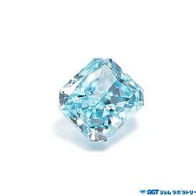 天然ファンシーインテンスグリーンニッシュブルー ダイヤモンド 0.029ct Fancy Intense Greenish Blue SI1 AGT