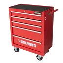 AP ミニキャビネット 5段 レッド RC912 | 収納 工具箱 ミニ工具箱 整理 整頓 収納箱 工具入れ インテイリア 作業場 ガ…