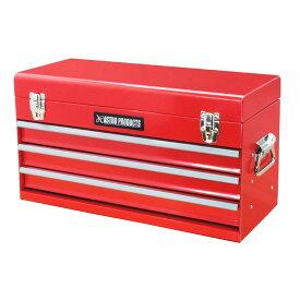 AP ツールボックス 3段 レッド TB763 | 工具箱 道具箱 収納箱 ツール収納 整理 片付け ガレージ 工具入れ ツール入れ