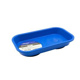 AP 角型プラスチックマグネットトレー ブルー   トレー マグネット マグネットトレー プラスチック 部品 パーツ 受け皿 磁石 落下防止 四角 収納 整理【アストロプロダクツ】