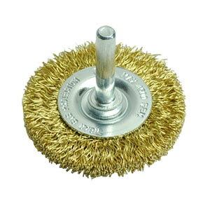 AP ホイール型 真鍮ワイヤーブラシ | ブラシ ワイヤー 研磨 サビ落とし 真鍮 真ちゅう サビ取り DIY【アストロプロダクツ】