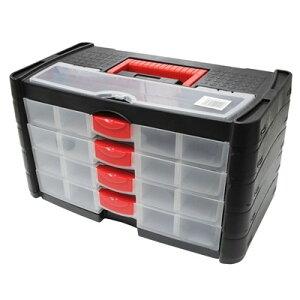 AP プラスチックボックス 4段引出【持ち運び 道具箱】【HOBBY ケース】【アストロプロダクツ】