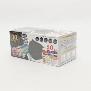 ヒロ カラー不織布マスク グレー | 不織布 不織布マスク 灰色 グレー 花粉 PM2.5 衛生用品 予防 箱入りマスク マスク ハウスダスト