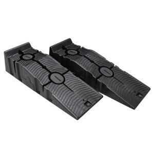 AP 2分割式 プラスチックカーランプ 2本セット【スロープ カーランプ】【オイル交換 タイヤ交換 ジャッキアップ 木端】【アストロプロダクツ】