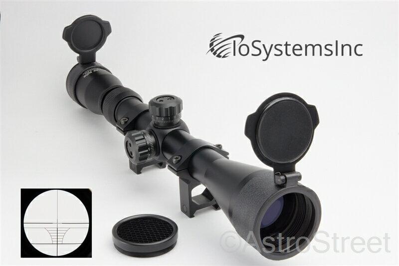 IoSystemsInc HG仕様ライフルスコープ キルフラッシュ、バトラーキャップ、日本語説明書付き 3-9X40HG Pro 口径40mm 3-9倍ズーム 窒素ガス充填モデル 20mmハイマウントリング付属 スナイパーライフル[国内正規品]