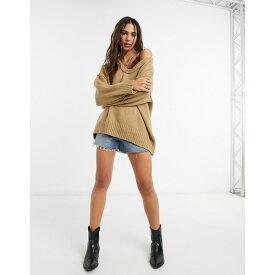 フリーピープル レディース ニット&セーター アウター Free People Brookside sweater in brown Brown