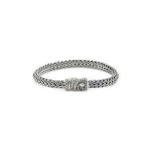 サミュエル ビー メンズ ブレスレット・バングル・アンクレット アクセサリー Sterling Silver Snake Lock Tulang Naga Woven Chain Bracelet Silver